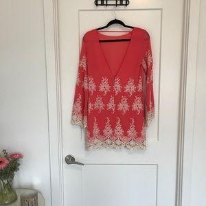 Romantic open back dress